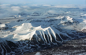 Geography of Svalbard - Mountains on Spitsbergen.