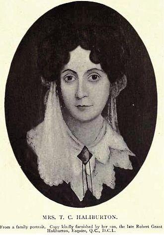 Thomas Chandler Haliburton - Mrs Louisa Haliburton (née Neville) first wife of Thomas Chandler Haliburton