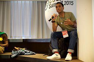 Muid Latif - Image: Muid Latif, CC Malaysia, at the Creative Commons Global Summit 2015 (22214633446)