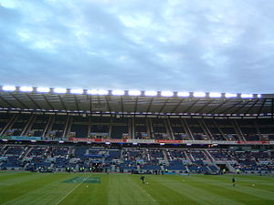 Murrayfield Stadium - Murrayfield Stadium in 2002.