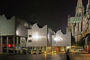 Dienstag aus Licht - Museum Ludwig, where Klavierstück XV was premiered (Cologne Cathedral in the background)