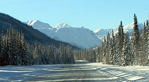 Muskwa Ranges - The Alaska Highway crossing the Muskwa Ranges
