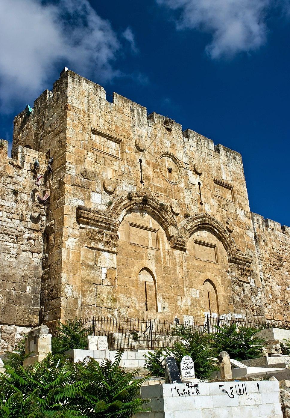 Muslim Cemetery Eastern Wall Jerusalem 01