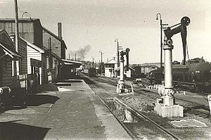 Muswellbrook railway station - Image: Muswellbrook Railway Station old 1