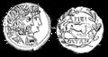 Mynt från Epirus, Nordisk familjebok.png