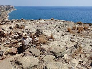 Myrtos Pyrgos archaeological site on Crete