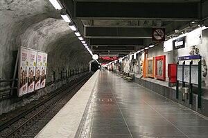 Näckrosen metro station - Image: Näckrosen E