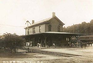 Sussex Railroad - Newton Station, built 1873, was one of the first stations
