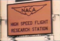 NACA High Speed Flight Research Station Sign.png