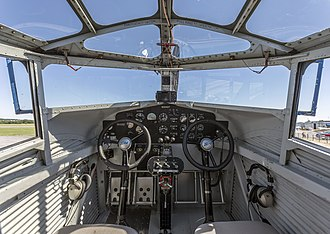 Ford Trimotor - The cockpit of NC-8407