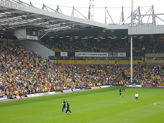 Carrow Road - Aviva Community Stand depicted in 2007 with the Norwich Union branding