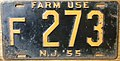 NEW JERSEY 1955 -FARM TRUCK LICENSE PLATE, low number - Flickr - woody1778a.jpg