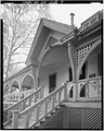 NORTH (FRONT) ENTRY AND PORCH DETAIL - Joel Chandler Harris House, 1050 Gordon Street, Atlanta, Fulton County, GA HABS GA,61-ATLA,14-7.tif