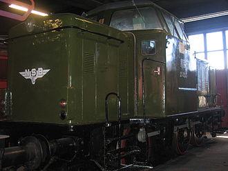 NSB Di 2 - Thune-built 2.833 in the original green color scheme at the Norwegian Railway Museum