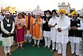 Narendra Modi at the Golden Temple, in Amritsar, Punjab. The Governor of Punjab, Shri Kaptan Singh Solanki,the Chief Minister of Punjab, Shri Parkash Singh Badal, the Union Minister for Food Processing Industries.jpg