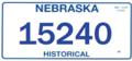 Nebraska Historical license plate 2017.png