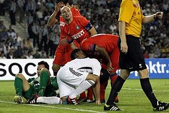 Samir Handanović - Handanovic playing against Neftchi Baku in the Europa League