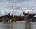 New Crown Point Bridge under construction, August 2011.jpg