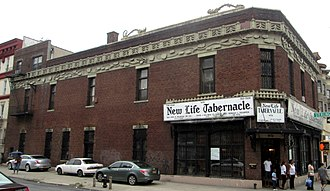 Loehmann's - Frieda Loehmann's original store was located in this building at 1476 Bedford Avenue in the Crown Heights neighborhood of Brooklyn, New York City. It is now a gospel church.