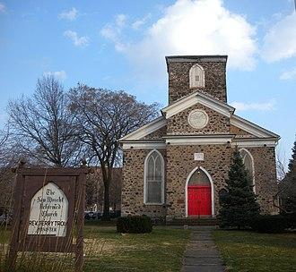 New Utrecht Reformed Church - Image: New Utrecht Church front jeh
