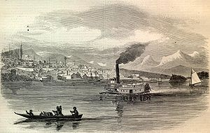 Russian–American Telegraph - New Westminster, British Columbia in 1865