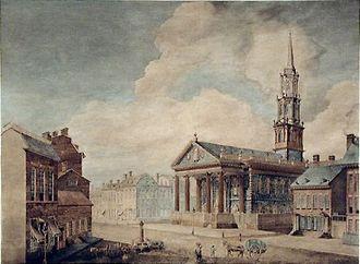 Archibald Robertson (painter) - New York St. Paul's Chapel, 1799