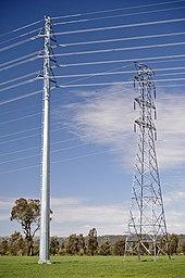 Transmission tower wikipedia for Pylon foundation