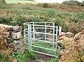 New gate on the coastal path near Castle Point - geograph.org.uk - 1635870.jpg