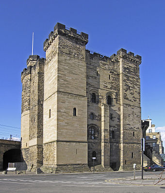 Newcastle Castle Keep is the oldest structure in the city, dating back to at least the 11th century. Newcastle schloss.jpg