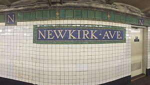 Newkirk Avenue (IRT Nostrand Avenue Line) - Station tilework