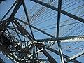 Newport Transporter Bridge, looking up the tower.jpg