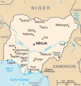 Nigeria - Mappa