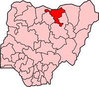 Location of Jigawa State in Nigeria