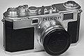 Nikon S2 Rangefinder (Chrome Dial) with 5cm f-1.4 lens (5585559178).jpg