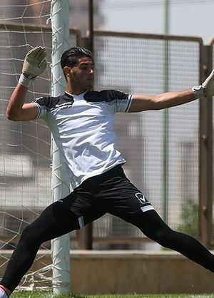 Nima Mirzazad - Image: Nima Mirzazad in Iranian national team training