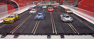 Slot car - Modern commercially made slot cars and track. Ninco, 1:32 scale.