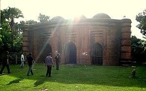 Nine Dome Mosque - Image: Nine Dome Mosque, Bagerhat(নয় গম্বুজ মসজিদ, বাগেরহাট) (1)