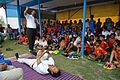 Nisith Ranjan Chowdhury Explains Pabanmuktasana Benefits - Football Workshop - Nisana Foundation - Sagar Sangha Stadium - Baruipur - South 24 Parganas 2016-02-14 1390.JPG
