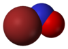 Spacefill model of nitrosyl bromide