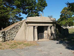 North Burial Ground (Fall River, Massachusetts) - Image: North Burial Ground Vault