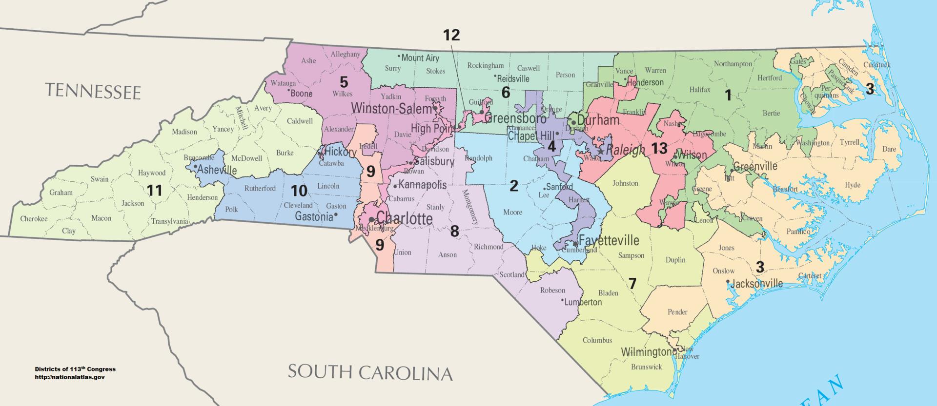 Gerrymandering North Carolina Congressional Districts