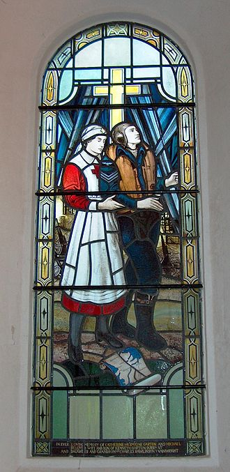 Arnold Wathen Robinson - Window in St Mary's Church Christon.