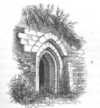 Northampton Castle - A postern at Northampton Castle from Hartshorne