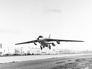 Northrop X-21 - The X-21A lifts off on its first flight