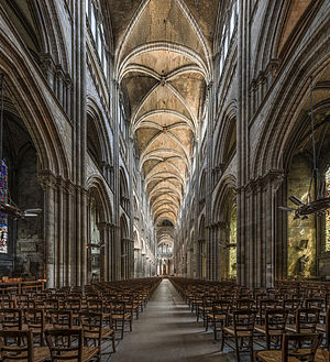 Rouen Cathedral - The nave