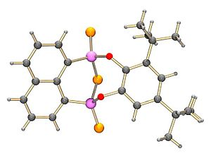 Naphthalen-1,8-diyl 1,3,2,4-dithiadiphosphetane 2,4-disulfide - The structure of the product of di-tert-butylcatechol with NpP2S4