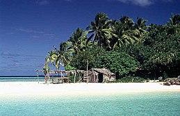 Una spiaggia tongana