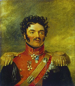Irish Russians - Portrait of Joseph Cornelius O'Rourke by George Dawe in the Military Gallery of the Winter Palace.