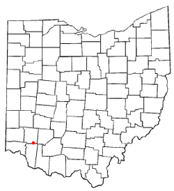 Location of Pleasant Plain, Ohio