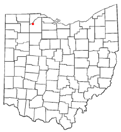 Location of Tontogany, Ohio